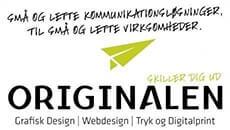 ORIGINALEN - Grafisk design, Webdesign, Tryk og digitalprint i Billund: Små og lette kommunikationsløsninger, til små og lette virksomheder.
