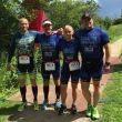 De fire triatleter fra Billund Triatlon Klub der snuppede tredjepladsen ved DM for hold. Foto: Privatfoto/Gitte Lykke