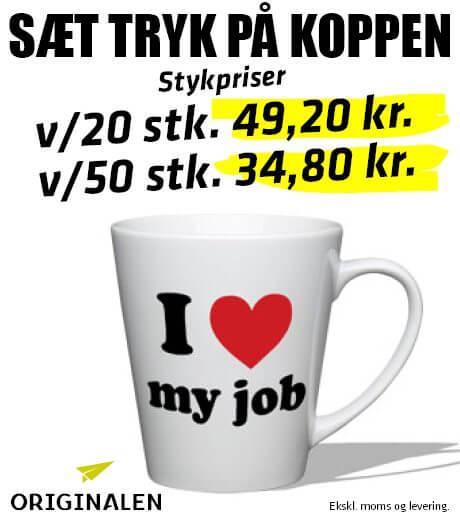 Kaffekrus med tryk - ORIGINALEN Billund