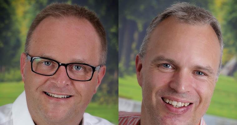 De to byrådsmedlemmer for de Konservative i Billund er Kim Gosvig, Billund,  og Allan Munk Nielsen, Sdr. Omme. Foto: billund.dk