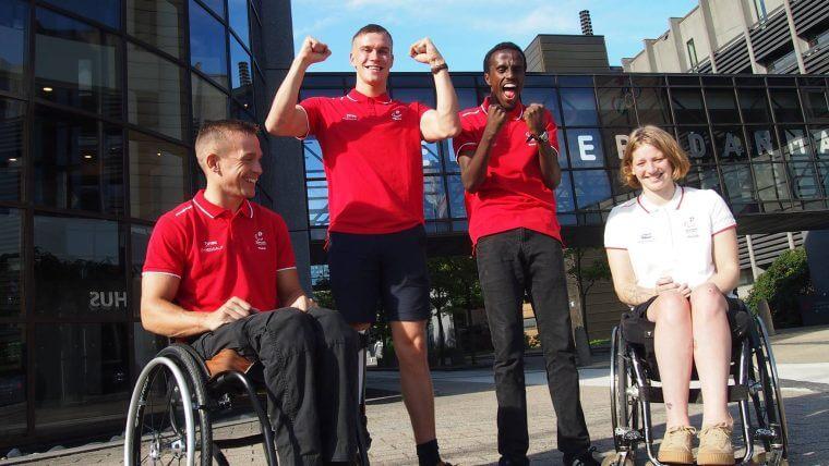 Michael Jørgensen (helt til venstre) tager snart turen fra Grindsted til Rio. Foto: Dansk Handicap Idræts Forbund