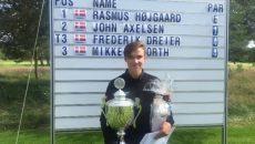 Vinder af Danish International Amateur Championship (DIAC) 2016 blev Rasmus Højgaard. Privatfoto