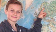 Jeppe Christensen er klar til at indtage Finland - sammen med masser af andre eventyrlystne børn. Privatfoto