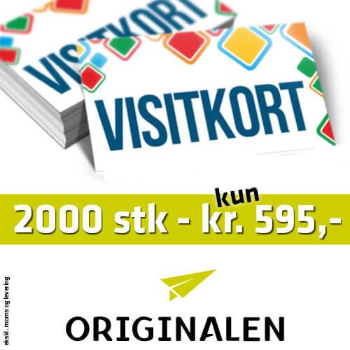 Tryk af visitkort ved ORIGINALEN i Billund
